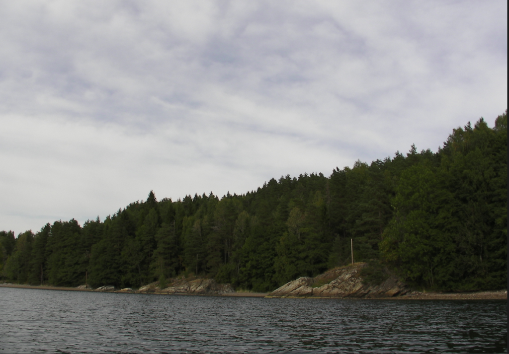 Svartskog til høyre innover Bunnefjorden i dag.