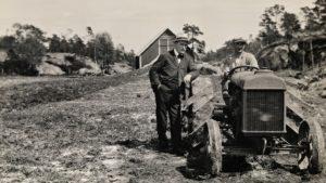 """Bildet er fra Nørholm - etter tida som """"bonde"""" på Hamarøy."""